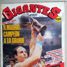 Coleccionismo deportivo: GIGANTES DEL BASKET Nº124 MARZO1988 BALONCESTO FINAL COPA KORAC REAL MADRID CIBONA PETROVIC CORBALAN. Lote 116789291