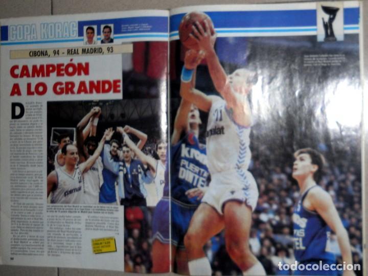 Coleccionismo deportivo: GIGANTES del BASKET Nº124 Marzo1988 BALONCESTO FINAL COPA KORAC REAL MADRID CIBONA PETROVIC CORBALAN - Foto 2 - 116789291