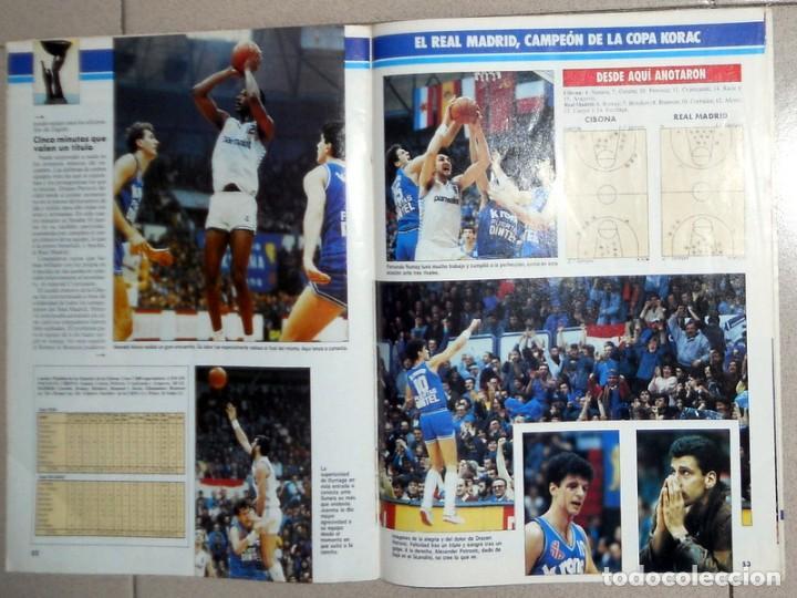 Coleccionismo deportivo: GIGANTES del BASKET Nº124 Marzo1988 BALONCESTO FINAL COPA KORAC REAL MADRID CIBONA PETROVIC CORBALAN - Foto 3 - 116789291