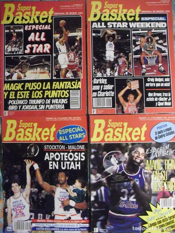 MICHAEL JORDAN - REVISTAS ''SUPERBASKET'' - ALL-STARS DE 1990 A 1993 - NBA (Coleccionismo Deportivo - Revistas y Periódicos - otros Deportes)