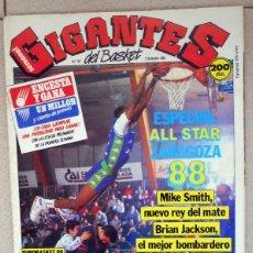 Coleccionismo deportivo: GIGANTES DEL BASKET Nº161 DICIEMBRE 1988 BALONCESTO POSTER BINGENHEIMER ESPECIAL ALL STAR ZARAGOZA. Lote 118046199