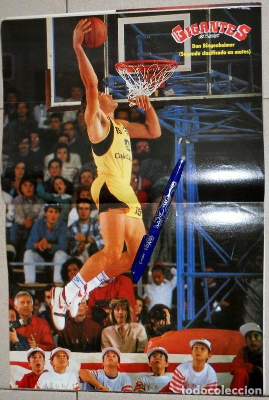 Coleccionismo deportivo: GIGANTES del BASKET Nº161 Diciembre 1988 BALONCESTO POSTER BINGENHEIMER ESPECIAL ALL STAR ZARAGOZA - Foto 2 - 118046199