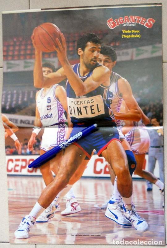 Coleccionismo deportivo: GIGANTES del BASKET Nº167 Enero 1989 BALONCESTO POSTER VLADO DIVAC YUGOSLAVIA NBA VINTAGE MANUTE BOL - Foto 2 - 118046327