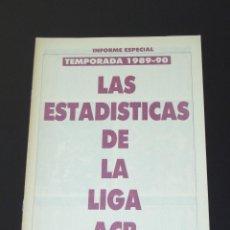 Coleccionismo deportivo: DON BASKET - LAS ESTADÍSTICAS DE LA LIGA ACB - TEMPORADA 1989-90. Lote 118079331