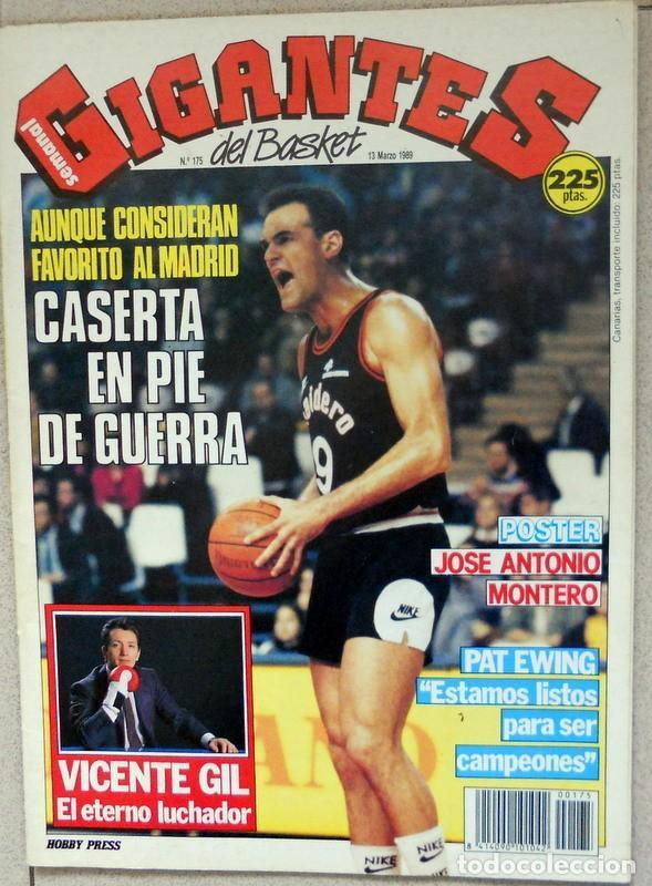 GIGANTES DEL BASKET Nº175 MARZO 1989 BALONCESTO POSTER MONTERO RAM JOVENTUT BADALONA NBA (Coleccionismo Deportivo - Revistas y Periódicos - otros Deportes)