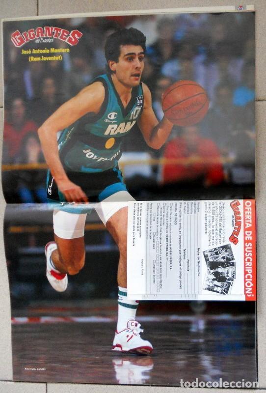 Coleccionismo deportivo: GIGANTES del BASKET Nº175 Marzo 1989 BALONCESTO POSTER MONTERO RAM JOVENTUT BADALONA NBA - Foto 2 - 118157947
