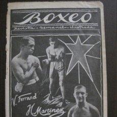 Coleccionismo deportivo: BOXEO-FERRAND MARTINEZ MURALL-POMARES- WALS -UZCUDUN...-DICIEMBRE 1927- VER FOTOS -(V-14.298). Lote 118368331