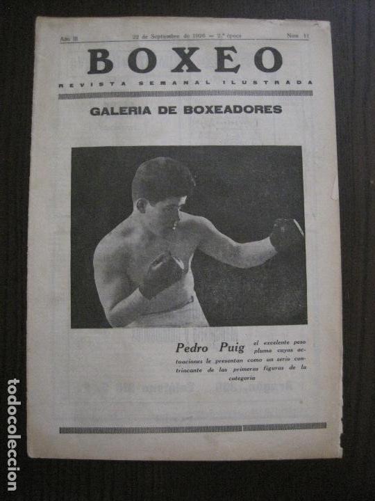 BOXEO-PEDRO PUIG- DEMPSEY -WILLS- TUNNEY -PIERRE BOSCH.-SEPTIEMBRE 1926- VER FOTOS -(V-14.299) (Coleccionismo Deportivo - Revistas y Periódicos - otros Deportes)