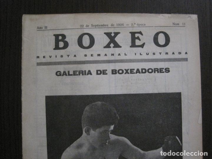 Coleccionismo deportivo: BOXEO-PEDRO PUIG- DEMPSEY -WILLS- TUNNEY -PIERRE BOSCH.-SEPTIEMBRE 1926- VER FOTOS -(V-14.299) - Foto 2 - 118368607