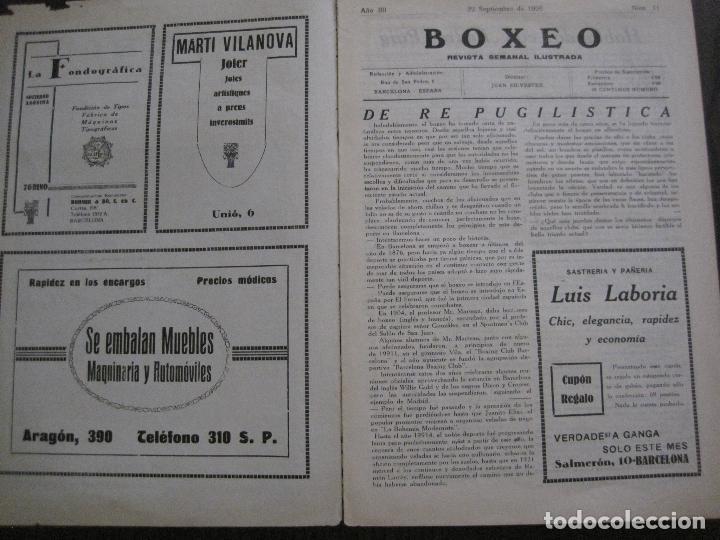 Coleccionismo deportivo: BOXEO-PEDRO PUIG- DEMPSEY -WILLS- TUNNEY -PIERRE BOSCH.-SEPTIEMBRE 1926- VER FOTOS -(V-14.299) - Foto 4 - 118368607