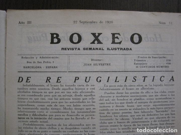 Coleccionismo deportivo: BOXEO-PEDRO PUIG- DEMPSEY -WILLS- TUNNEY -PIERRE BOSCH.-SEPTIEMBRE 1926- VER FOTOS -(V-14.299) - Foto 5 - 118368607