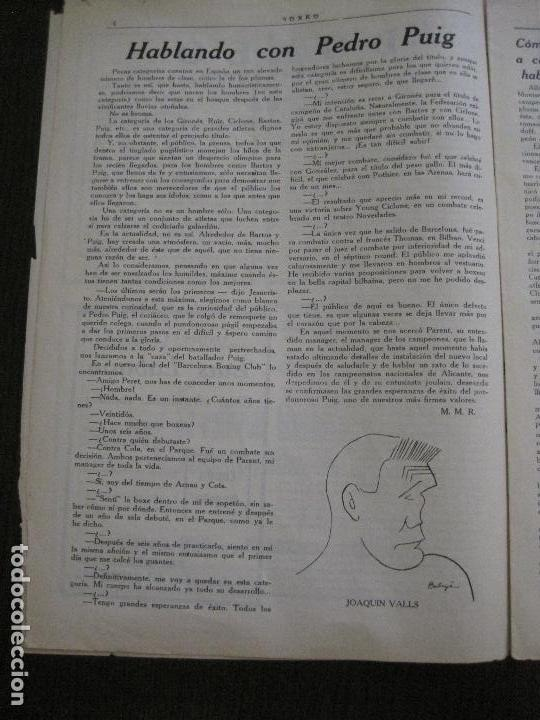Coleccionismo deportivo: BOXEO-PEDRO PUIG- DEMPSEY -WILLS- TUNNEY -PIERRE BOSCH.-SEPTIEMBRE 1926- VER FOTOS -(V-14.299) - Foto 6 - 118368607