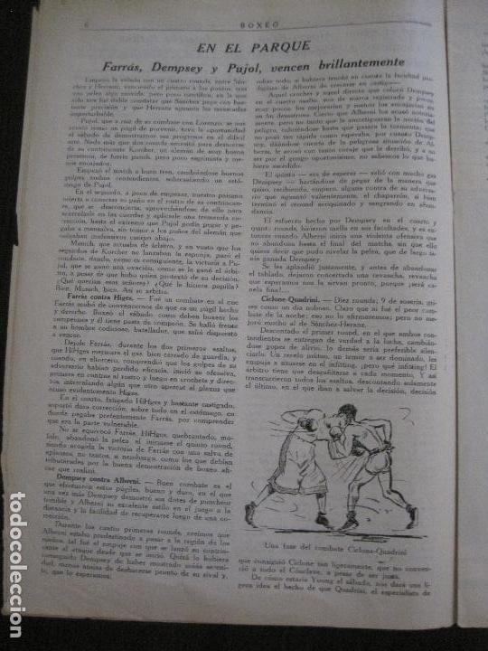 Coleccionismo deportivo: BOXEO-PEDRO PUIG- DEMPSEY -WILLS- TUNNEY -PIERRE BOSCH.-SEPTIEMBRE 1926- VER FOTOS -(V-14.299) - Foto 7 - 118368607