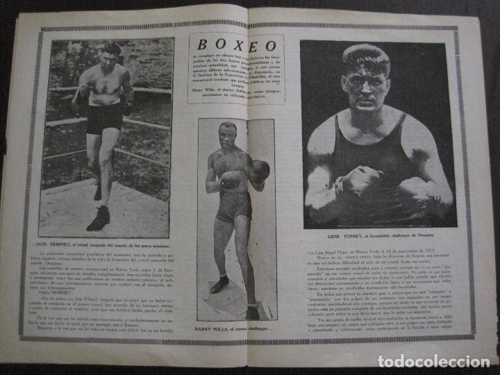 Coleccionismo deportivo: BOXEO-PEDRO PUIG- DEMPSEY -WILLS- TUNNEY -PIERRE BOSCH.-SEPTIEMBRE 1926- VER FOTOS -(V-14.299) - Foto 8 - 118368607