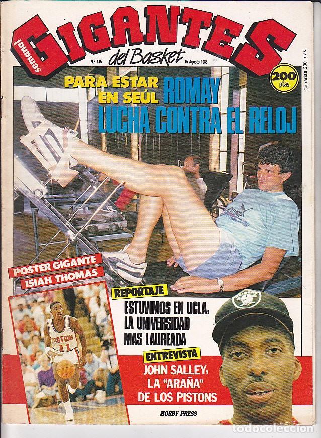 REVISTA GIGANTES DEL BASKET Nº 145 (Coleccionismo Deportivo - Revistas y Periódicos - otros Deportes)