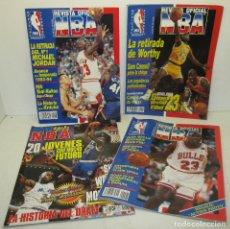 Coleccionismo deportivo: LOTE 3 REVISTAS AÑOS 90, BASKET, REVISTA OFICIAL NBA + RISING STARS OF THE NBA. Lote 118489759
