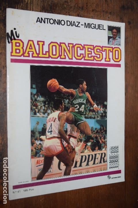 FASCICULO MI BALONCESTO, ANTONIO DIAZ-MIGUEL, Nº 41, 1985, POSTER MARK AGUIRRE (Coleccionismo Deportivo - Revistas y Periódicos - otros Deportes)