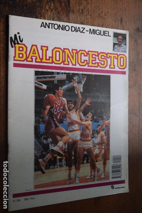 FASCICULO MI BALONCESTO, ANTONIO DIAZ-MIGUEL, Nº 26, 1985, POSTER VINNIE JOHNSON (Coleccionismo Deportivo - Revistas y Periódicos - otros Deportes)