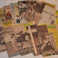 Coleccionismo deportivo: LOTE - VIDAS SIN CARETA - LOTE DE 12 REVISTAS DEPORTIVAS - MUY ANTIGUAS - MIRA LAS FOTOS - HAZ OFERT. Lote 120499755