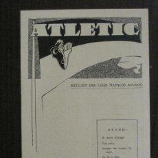 Coleccionismo deportivo: ATLETIC-BUTLLETI CLUB NATACIO ATLETIC- NUM. 5- DESEMBRE 1933 -VER FOTOS(V-14.466). Lote 120947903