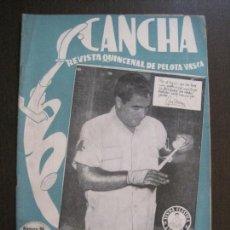 Coleccionismo deportivo: CANCHA - REVISTA DE PELOTA VASCA-PELOTARIS-FRONTON - NUM.96 -AÑO 1949-MEXICO -VER FOTOS-(V-14.759). Lote 123228939