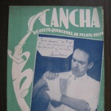 Coleccionismo deportivo: CANCHA - REVISTA DE PELOTA VASCA-PELOTARIS-FRONTON - NUM.100 -AÑO 1949-MEXICO -VER FOTOS-(V-14.760). Lote 123229435