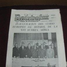 Coleccionismo deportivo: BEISBOL HOJA DE DIVULGACION Nº 7. MADRID FEBRERO 1963. Lote 125869115