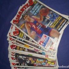 Coleccionismo deportivo: LOTE 17 REVISTAS GIGANTES DEL BASKET.. Lote 126160027