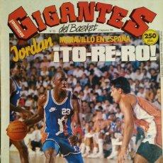 Coleccionismo deportivo: MICHAEL JORDAN EN ESPAÑA (1990) - REVISTA ''GIGANTES DEL BASKET'' - NBA. Lote 127468355