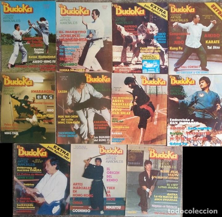 LOTE DE 19 REVISTAS DE ARTES MARCIALES ''EL BUDOKA'' (1976-1989) (Coleccionismo Deportivo - Revistas y Periódicos - otros Deportes)