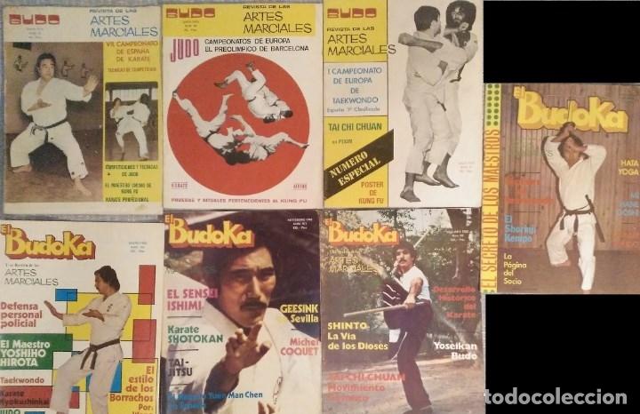 Coleccionismo deportivo: Lote de 19 revistas de artes marciales El budoka (1976-1989) - Foto 2 - 57673036