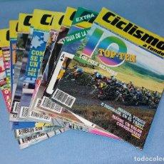 Coleccionismo deportivo: LOTE DE 10 REVISTAS DE CICLISMO A FONDO AÑOS 90 EN EXCELENTE ESTADO VER FOTO Y DESCRIPCION. Lote 128965615
