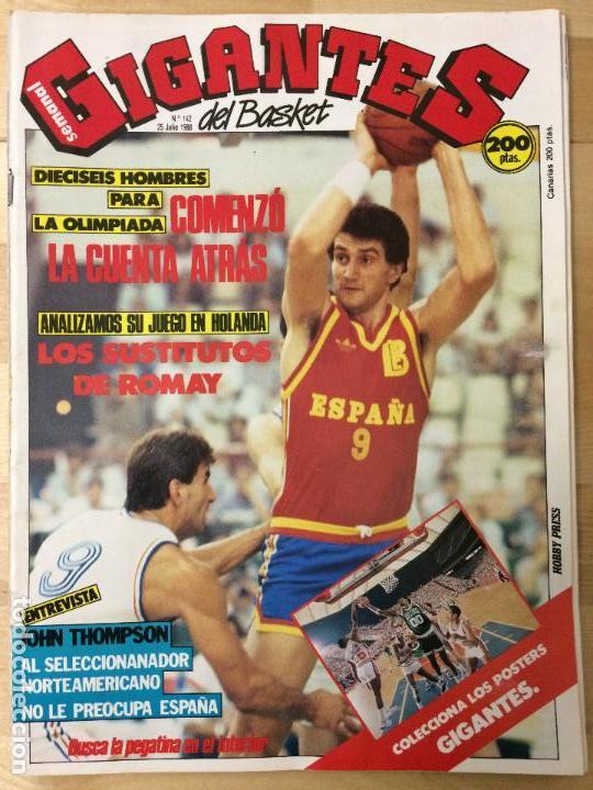 REVISTA BALONCESTO GIGANTES DEL BASKET Nº 142 (Coleccionismo Deportivo - Revistas y Periódicos - otros Deportes)