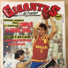 Coleccionismo deportivo: REVISTA BALONCESTO GIGANTES DEL BASKET Nº 142. Lote 129121247