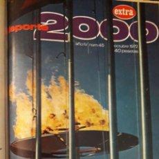 Coleccionismo deportivo: DEPORTE 2000 12 REVISTAS ENCUADERNADAS / Nº 34,35 EXTRA,36,37,38,39,40,41,42,43.45 EXTRA / AÑOS 1971. Lote 129230595