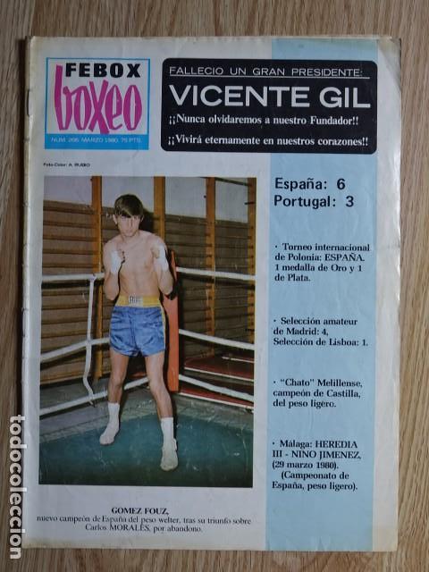 FEBOX BOXEO Nº266 Nº 266 GÓMEZ FOUZ VICENTE GIL NINO JIMÉNEZ AÑO 1980 MARZO (Coleccionismo Deportivo - Revistas y Periódicos - otros Deportes)