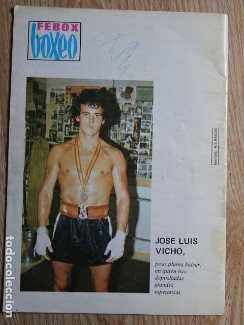 Coleccionismo deportivo: Febox Boxeo nº272 nº 272 Cassius Clay Larry Holmes Jose Luis VichoAño 1980 Octubre - Foto 2 - 129295015