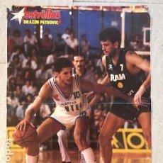 Coleccionismo deportivo: POSTER DRAZEN PETROVIC, ESTRELLAS DEL BASKET Nº 1. Lote 129301767
