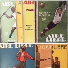 Coleccionismo deportivo: AIRE LIBRE. REVISTA DE DEPORTES. (1923- 1924). (VARIOS NÚMEROS (PENAGOS, BARTOLOZZI, RIBAS. Lote 129333038