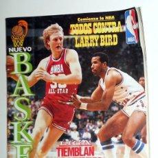 Coleccionismo deportivo: REVISTA NUEVO BASKET Nº150 NOVIEMBRE 1986 POSTER VILLACAMPA JOVENTUT BADALONA LARRY BIRD BALONCESTO. Lote 129557651