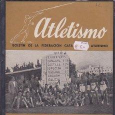 Coleccionismo deportivo: REVISTA BOLETIN FEDERACION CATAÑANA DE ATLETISMO AGOSTO 1944 Nº 8. Lote 129716519