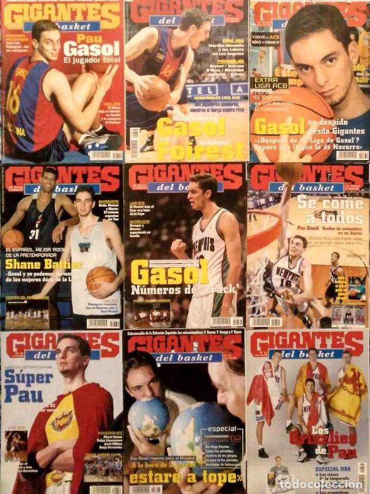 PAU GASOL - 17 REVISTAS ''GIGANTES DEL BASKET'' Y ''REVISTA OFICIAL NBA'' (2000-2009) - NBA (Coleccionismo Deportivo - Revistas y Periódicos - otros Deportes)