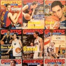 Coleccionismo deportivo: PAU GASOL - 12 REVISTAS ''GIGANTES DEL BASKET'' (2000-2002) - NBA. Lote 130455458
