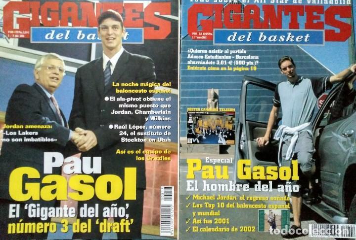Coleccionismo deportivo: Pau Gasol - 17 revistas Gigantes del Basket y Revista Oficial NBA (2000-2009) - NBA - Foto 2 - 130455458