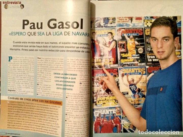 Coleccionismo deportivo: Pau Gasol - 17 revistas Gigantes del Basket y Revista Oficial NBA (2000-2009) - NBA - Foto 4 - 130455458