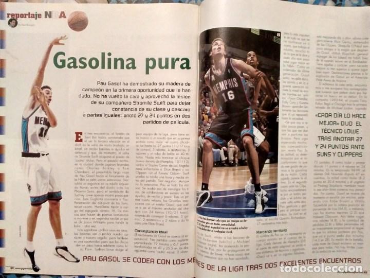 Coleccionismo deportivo: Pau Gasol - 17 revistas Gigantes del Basket y Revista Oficial NBA (2000-2009) - NBA - Foto 6 - 130455458