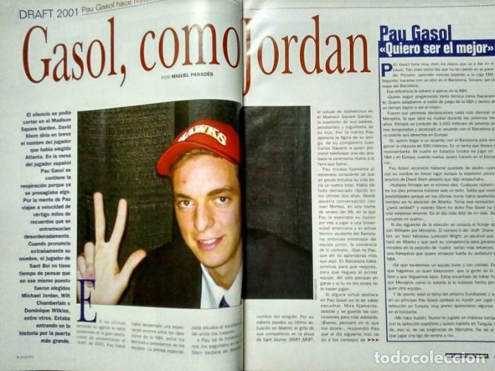 Coleccionismo deportivo: Pau Gasol - 17 revistas Gigantes del Basket y Revista Oficial NBA (2000-2009) - NBA - Foto 7 - 130455458