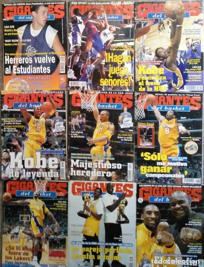 KOBE BRYANT - 9 REVISTAS ''GIGANTES DEL BASKET'' (1997-2003) - NBA (Coleccionismo Deportivo - Revistas y Periódicos - otros Deportes)
