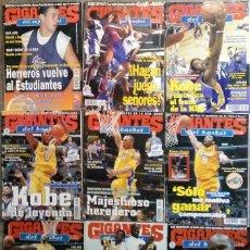 Coleccionismo deportivo: KOBE BRYANT - 9 REVISTAS ''GIGANTES DEL BASKET'' (1997-2003) - NBA. Lote 130455462