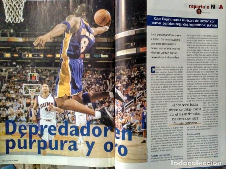 Coleccionismo deportivo: Kobe Bryant - 9 revistas ''Gigantes del basket'' (1997-2003) - NBA - Foto 5 - 130455462